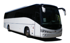 Shuttles 24 - Coach 55: Private vehicle with capacity for 55 passengers and 55 standard size bags or suitecases.
