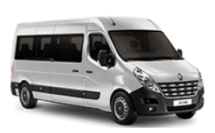 Shuttles 24 - Minibus 12: Private vehicle with capacity for 12 passengers and 12 standard size bags or suitecases.
